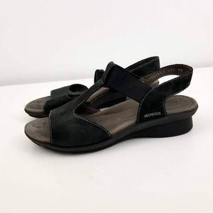 Mephisto Black Suede Strappy Sandals Size 37